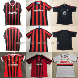El AC Milan Hombres Mujeres Jóvenes retroceso hogar lejos del fútbol Camisetas de fútbol camisetas