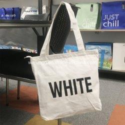 Förderung-kundenspezifisches großes organisches natürliches Lebensmittelgeschäft gedruckte Segeltuch-Baumwolltote-Einkaufstasche mit Firmenzeichen