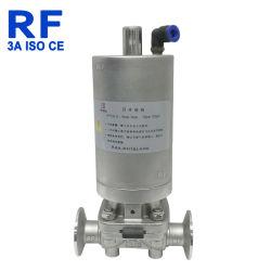 Pinça de aço inoxidável sanitárias RF Válvula de diafragma Pneumática