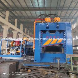 Schrott u. Wiederverwertung der Metallemballierenschere für das Stahlwerk, das Yards aufbereitet