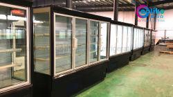 Ahorro de energía 4 bisagras de puerta de cristal armario frigorífico High-Class con armazón de aluminio