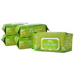 Produits pour bébé de tous les types OEM ODM Organic Baby tissu humide Lingette de nettoyage