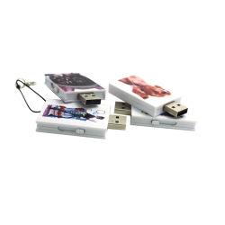 2019色刷のABS金属の正方形USBのフラッシュ駆動機構2.0 3.0 1GB 2GB 4GB 8GB 16GB 32GB 64GB
