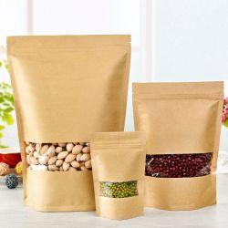 L'odeur preuve Kraftpaper refermable Stand up sachets de qualité alimentaire