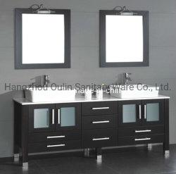Governo moderno di vendita caldo di vanità della stanza da bagno di legno solido (BA-1130)