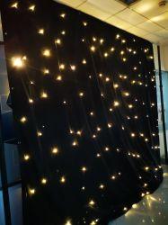 LED Star шторки с предупредить белые светодиодные индикаторы огнеупорные для свадьбы