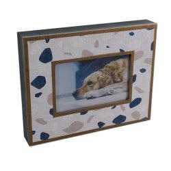 Blocco per grafici di legno su ordinazione della foto & cornice di legno