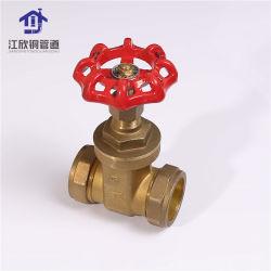 Латунный шаровой клапан водопроводные трубы фитинг клапана заслонки сжатия