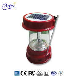Linterna recargable linterna solar portátil para la iluminación de camping al aire libre con el cambio de Móvil de Radio