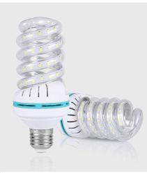 مصباح LED لتوفير الطاقة حلزوني بقدرة 7 واط مع لمبة أنبوب أبيض منزلي مصباح داخلي فاتح فلورسنت CFL