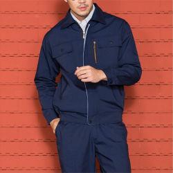 Bleu Marine Station gaz Coverall Vêtement résistant aux vêtements de travail de sécurité uniforme