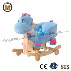 Dragon en peluche fauteuil à bascule avec des roues pour bébé