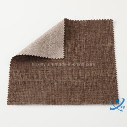 2020 China Hoge kwaliteit Polyester effen linnen Bekleding stof voor Sofa en stoel