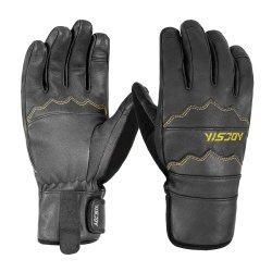 2019 Nouvelle arrivée Doigt plein cuir de vache Masquer durables des gants de ski snowboard neige personnalisée des gants pour adulte