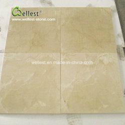 Природные желтый Солнечный камень бежевым мраморным полом и плитки на стене