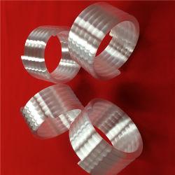 La molla opaca di vetro di quarzo arrotola il tubo del riscaldamento della fornace