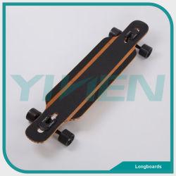 Goccia con Longboard con il pattino di legno di alta qualità dei materiali della vetroresina e del bambù