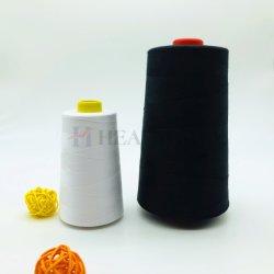 La Chine Yizheng fibres fabriquées en polyester noir 20S/2 fils à coudre