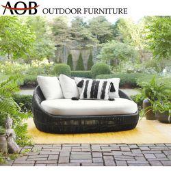 Chinesisches modernes im Freiengarten-Ausgangsmöbel-Seil Sunbed gesetzter Freizeitdaybed-Aufenthaltsraum mit Kissen