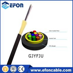 Micro ADSS TPU Gaine externe non étanche en métal avec mémoire tampon de l'aramide fils à 4 coeurs à 8 coeurs et câble de descente FTTH par mètre Prix