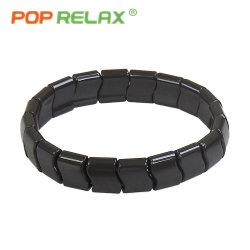 Braccialetto nero di salute del braccialetto del Tourmaline dell'onda