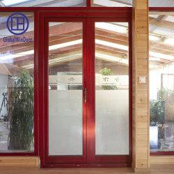 Le verre trempé de chêne en bois massif Swing entrée porte battante durables pour Villa