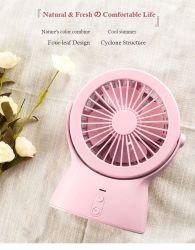 SommerhandminiPortable USB-nachladbarer Telefon-Ventilator-elektrischer Handbatterieleistung-Klein gedruckt-Ventilator