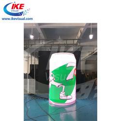 Leds de alta calidad forma curvada para solucionar el alquiler de interior de la instalación de pared de vídeo LED