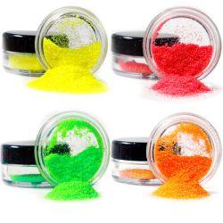 Commerce de gros de maquillage Poudre Fluorescente fines glitter Glitter néon Cosmétiques lâche de couleur pour le Visage Corps de l'oeil d'ongles