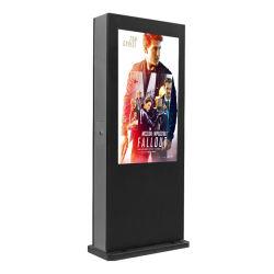 """Alto brillo resistente al agua el soporte de suelo 43''49''55'' 65"""" vertical exterior Tótem de señalización digital LCD de pantalla táctil WiFi quiosco de la pantalla de publicidad"""