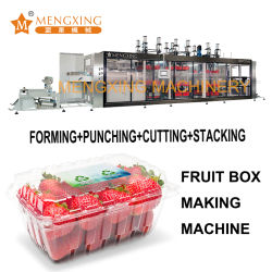 Blistermachine kunststof verpakking machine 4 stations Druk vacuüm Vormmachine ponsfunctie Automatische thermoforming machine PP Pet PVC