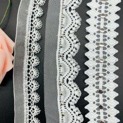 웨딩 드레스를 위한 고품질 화이트 베드 자수 끈