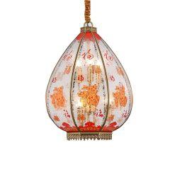 تصميم على الطراز الصينى ثريا ديكرية فانوس فى الفناء القديم ديكور المبنى مصباح معلق 3000K
