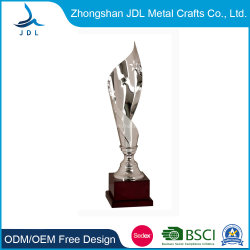 Hot Sale Custom Silver Material Sport Metal Trophy Award In Special Shape (016)