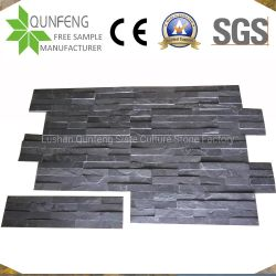 15X60cm中国Natural Culture Stone Black Slate Wall Cladding Panel