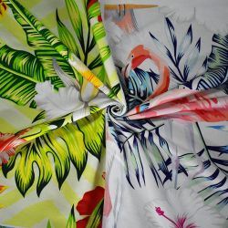 القطن 95 Cotton 5 Lycron Digital Printed Fabric 32S قماش مكنش