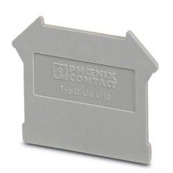 La tapa de cierre de terminal (42,5 mm/1,8 mm de anchura/altura de 35,9 mm gris)