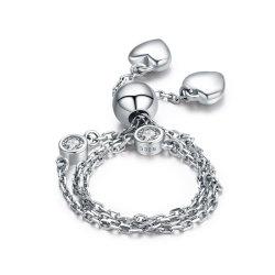 CZ Joyas chapado brillante exclusivo platino pulseras de plata esterlina