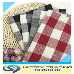 100% färbte Baumwolltartan-Gewebe, Check Shirting Fabic, Garn überprüftes Gewebe