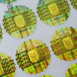 금 색깔 주문 탬퍼 증거 홀로그램 스티커