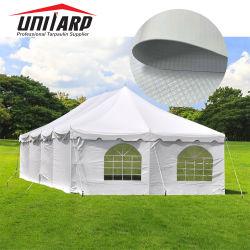 По борьбе с УФ светонепроницаемые 1000*1000d 9*9 550 GSM самоклеящаяся виниловая пленка ПВХ Брезент для использования вне помещений палаточных тканей для проведения свадеб и мероприятий