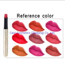 Les produits cosmétiques de haute qualité professionnelle de riches couleurs Hotselling étanche à la mode de longue durée Appuyez sur le tube de rouge à lèvres de type stylo
