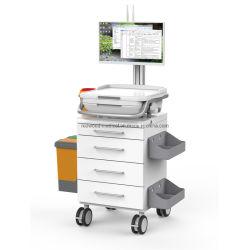 引出しの電子病院レコードが付いているMutifuctionalの処置サービス輸送の薬物のトロリー