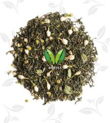 Tè verde del gelsomino del tè di sapore della frutta Mixed Mint organica del fiore