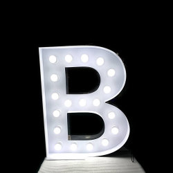 現代3D DIYの巨大で大きい金属の着火の文字の球根ライト