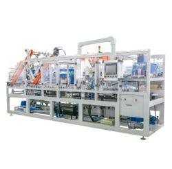 Полностью автоматическая влажной салфеткой Cartoning машину со встроенным в коробке чинили машину и герметик для резьбовых соединений