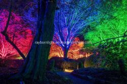 Jardim Iluminação Decorativa Árvore LED Light Holofote Externo Âmbar Vermelho Verde Azul