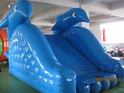 pool湖Waterprksのための小さく膨脹可能なイルカ水スライド
