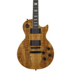 Mayorista de fábrica Spalted Maple LP de la parte superior del cuerpo de Guitarra Musical