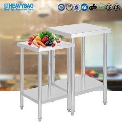 Varios tamaños personalizados Heavybao cocina de acero inoxidable mesa de comedor Workbench